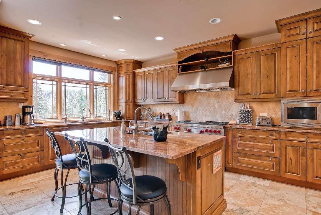 Gourmet kitchen at Mont Vista Chateau vacation rental in Breckenridge, Colorado