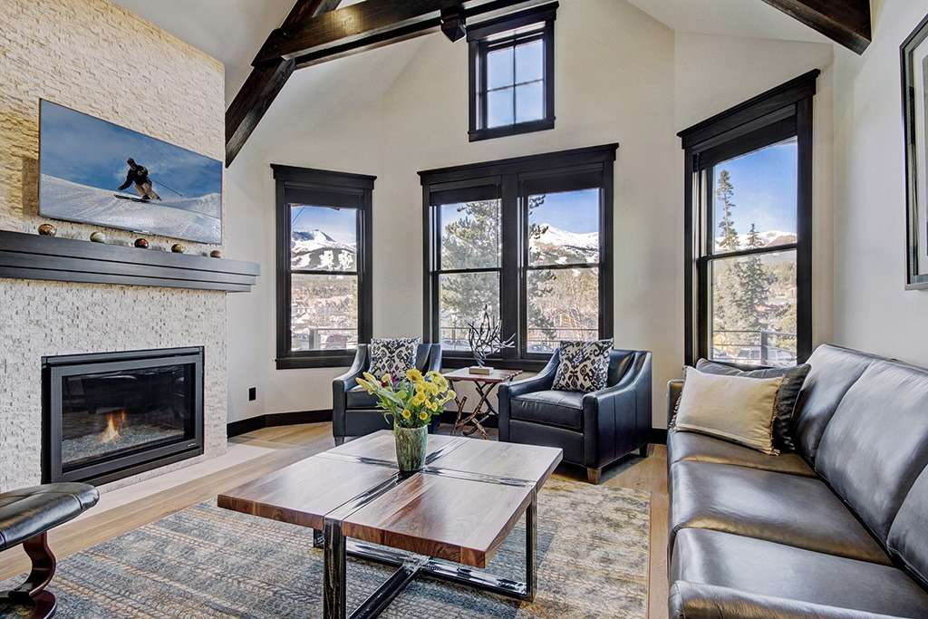 Living room at the Bogart House vacation rental by owner in Breckenridge, Colorado
