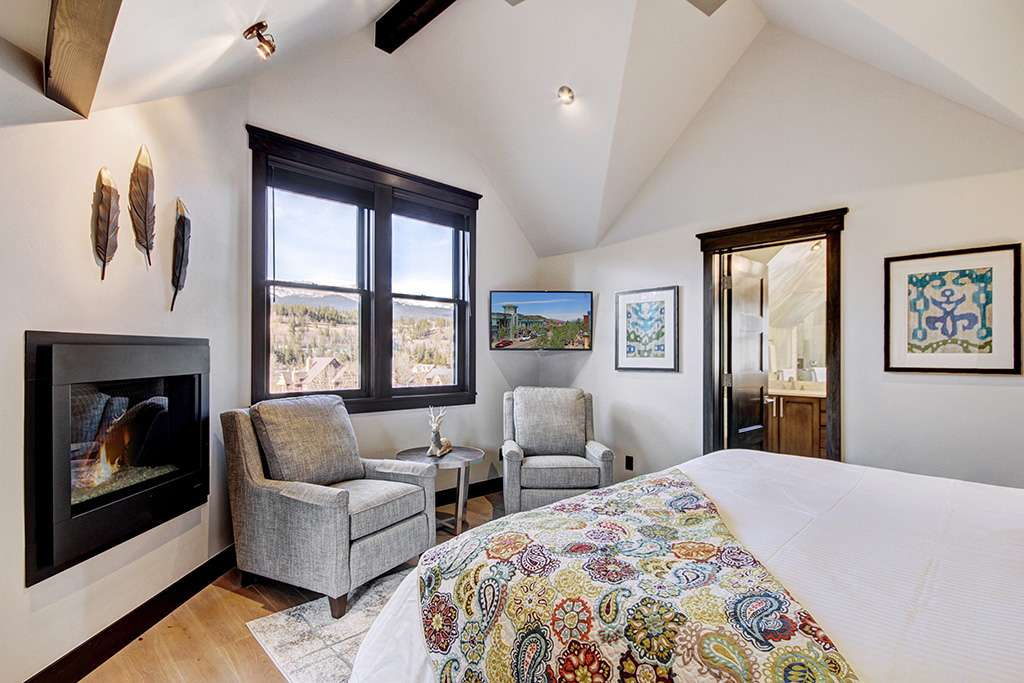 Master edroom at the Bogart House vacation rental by owner in Breckenridge, Colorado