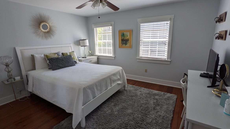Guest bedroom at The Globetrotter vacation rental in Savannah, Ga