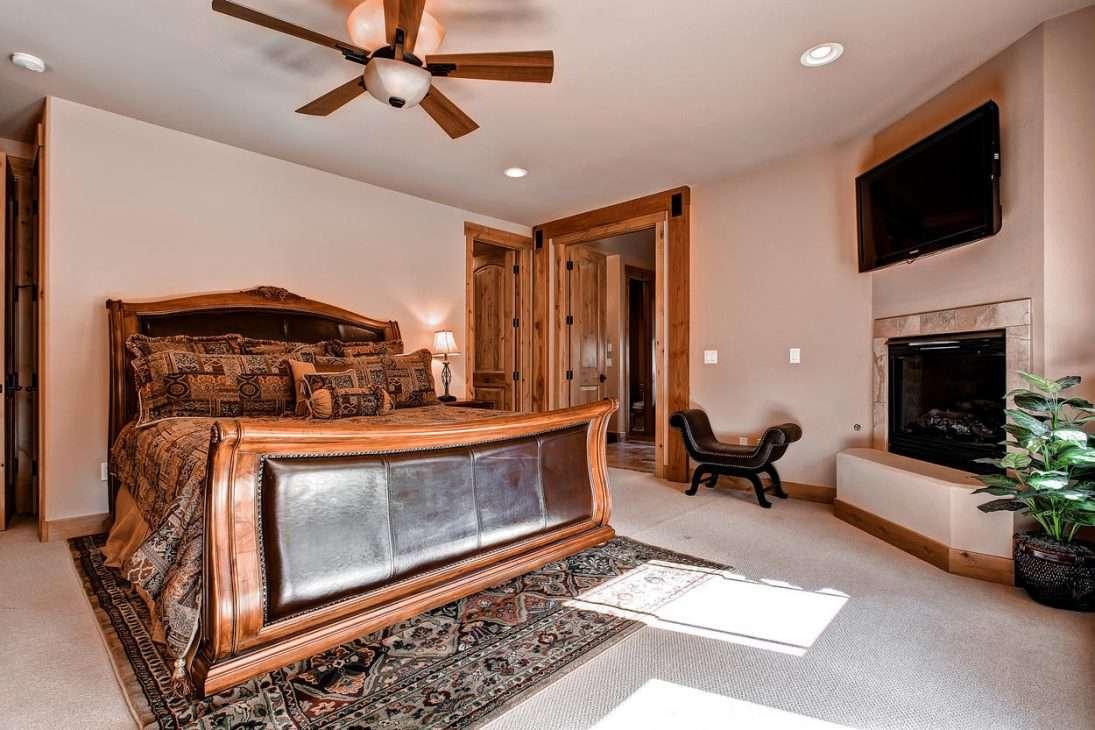 Bedroom at Mont Vista Chateau vacation rental in Breckenridge, Colorado