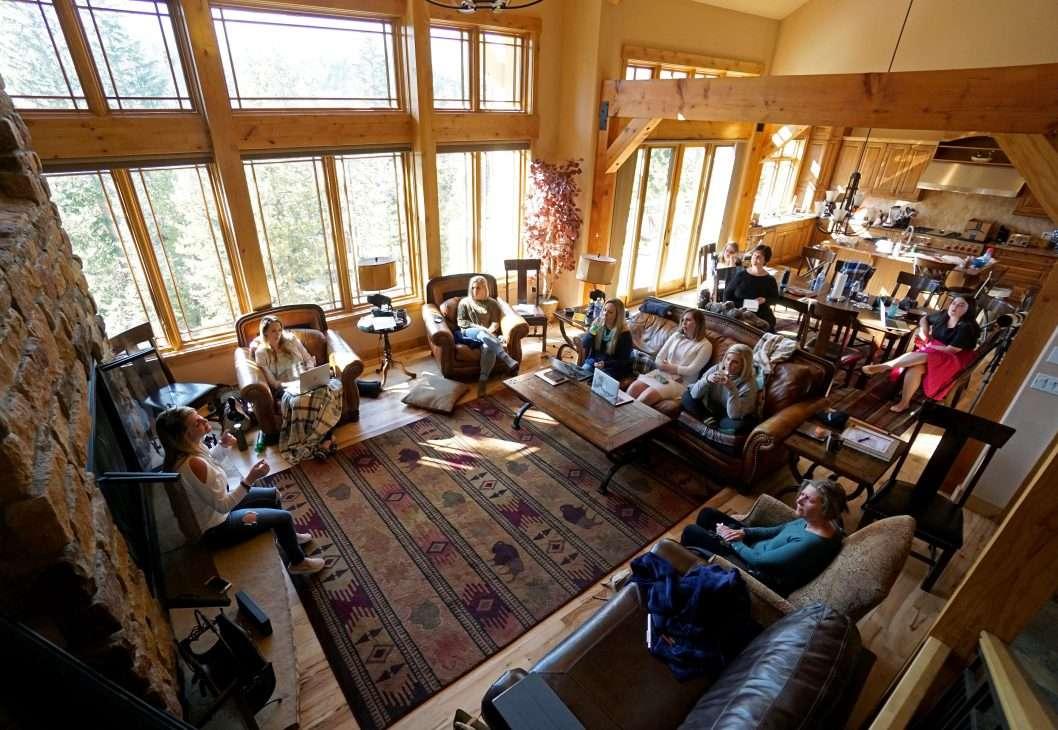Living area at Mont Vista Chateau vacation rental in Breckenridge, Colorado