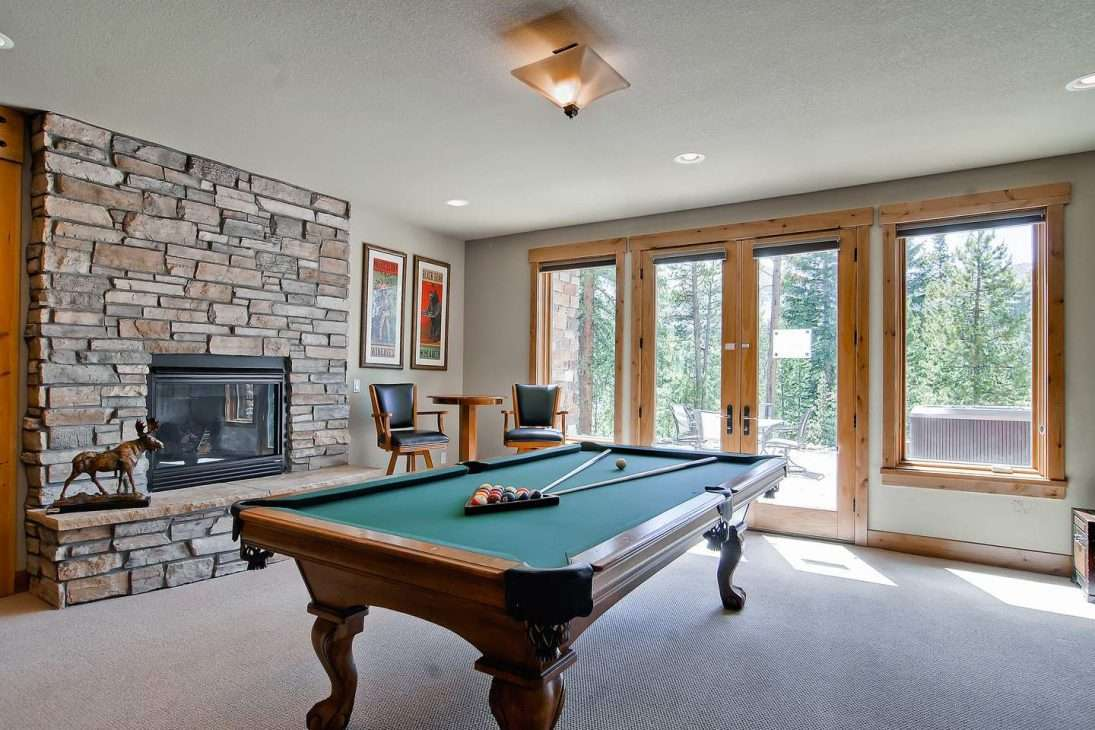 Game room at Mont Vista Chateau vacation rental in Breckenridge, Colorado