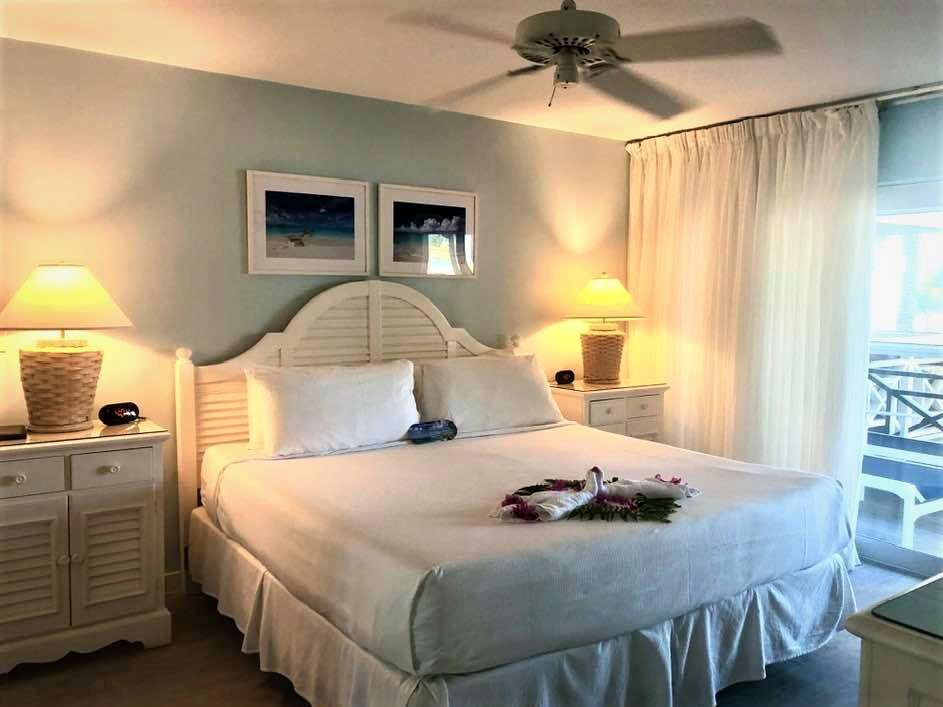 Master bedroom at Ocean Clubs Resort a Turks and Caicos vacation rental