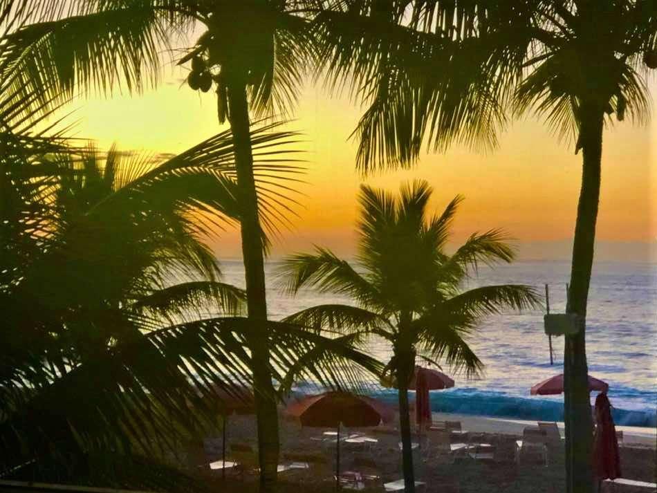 Sunset from my villa at Ocean Club