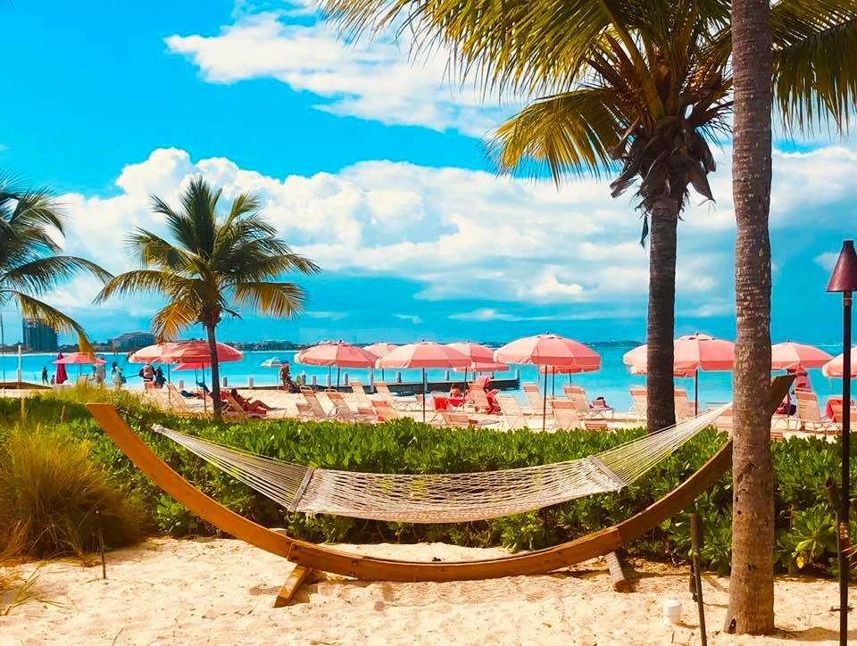 A hammock at Ocean Club in Turks and Caicos