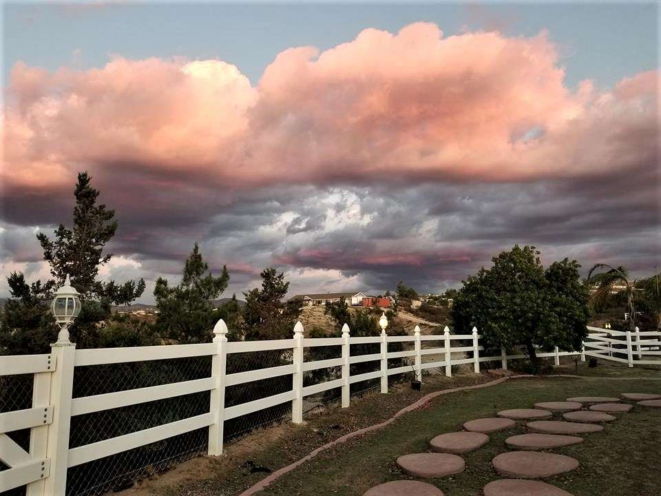 Sunset at Temecula wine country vacation rental