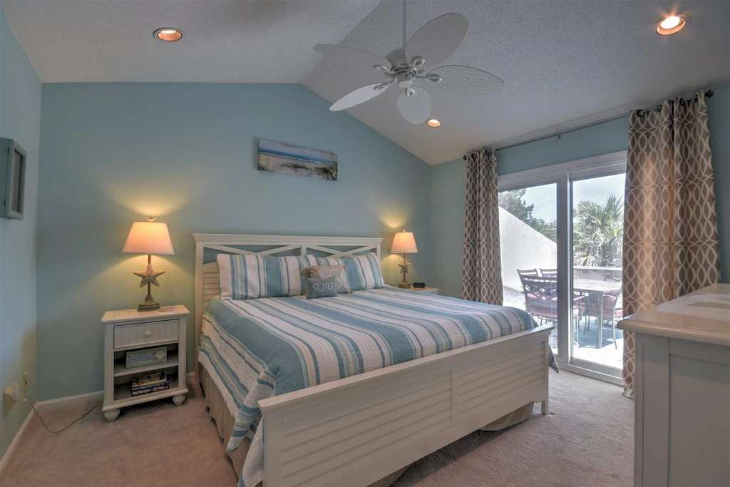 master bedroom at Forest Ridge, an Amelia Island vacation rental