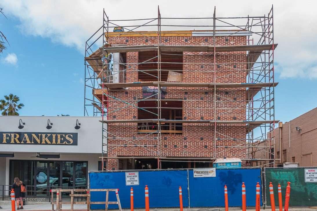 Brick Hotel in Downtown Oceanside, California