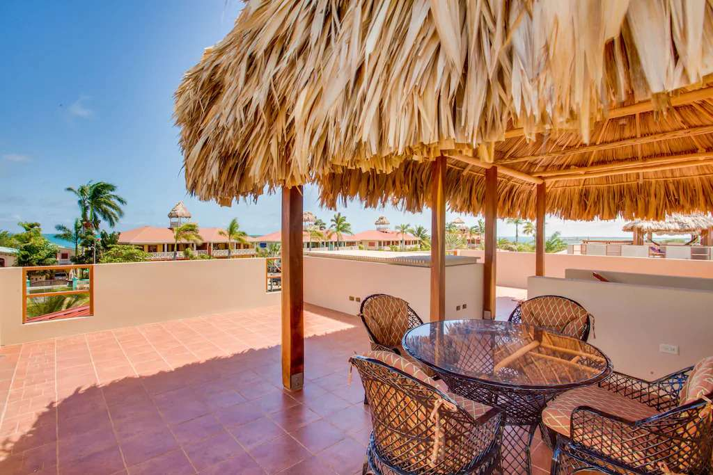 Rooftop deck of Placencia vacation rental
