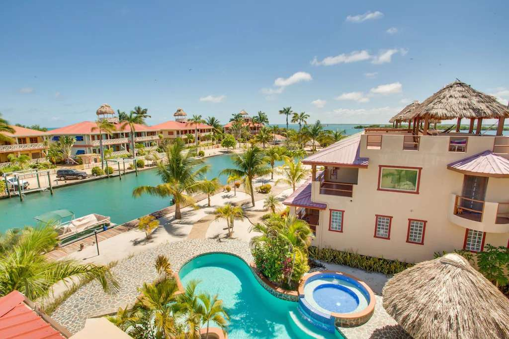 Aerial view of Placencia vacation rental