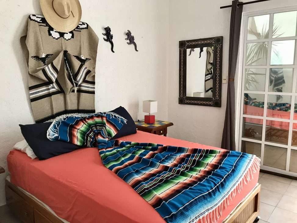 The bedroom at Villa Zaztun