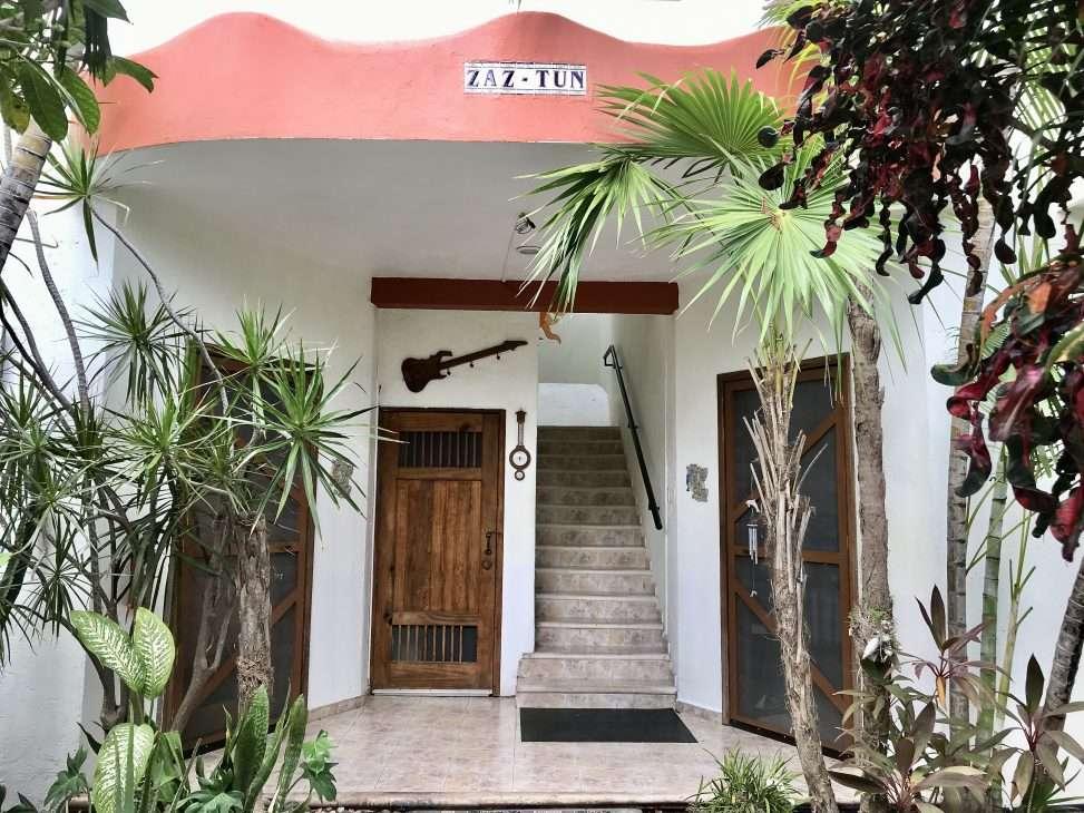 Entrance view of Villa Zaztun in Cozumel
