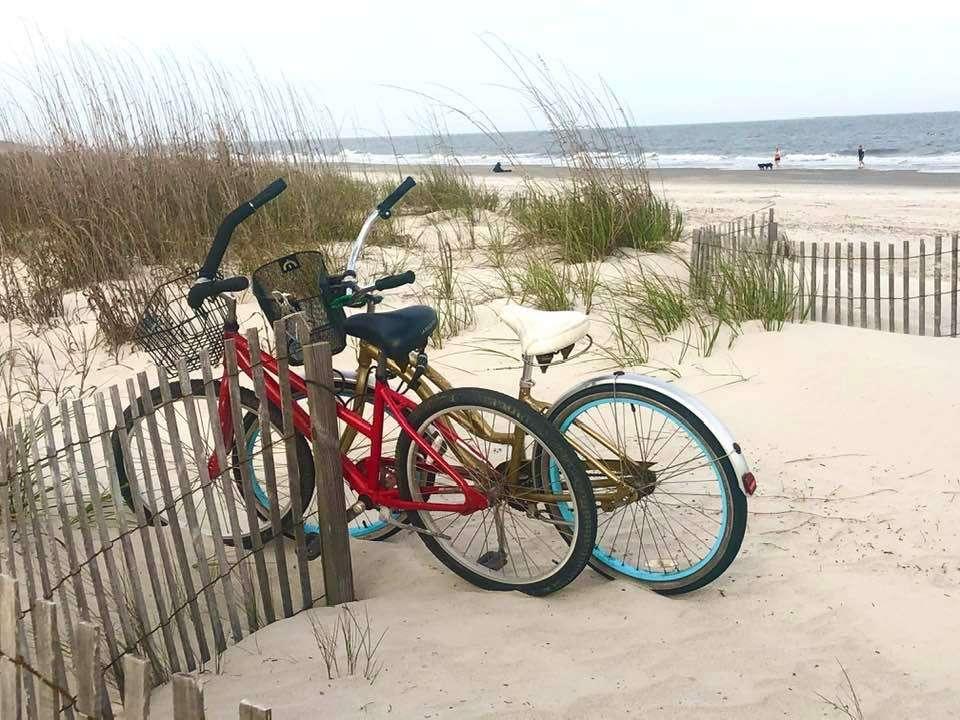 bikes on the beach in Hilton Head