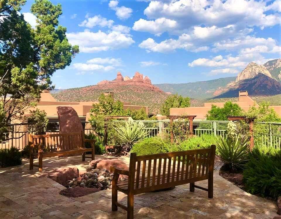 view from vacation rental in Sedona, Arizona