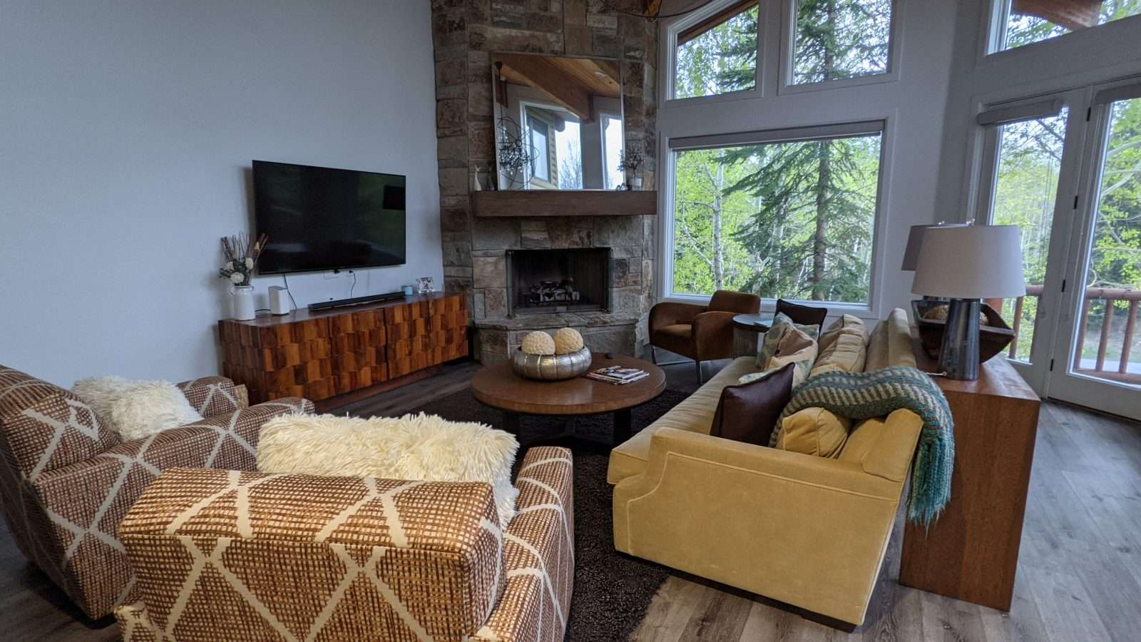 Living room of vacation rental in Park City