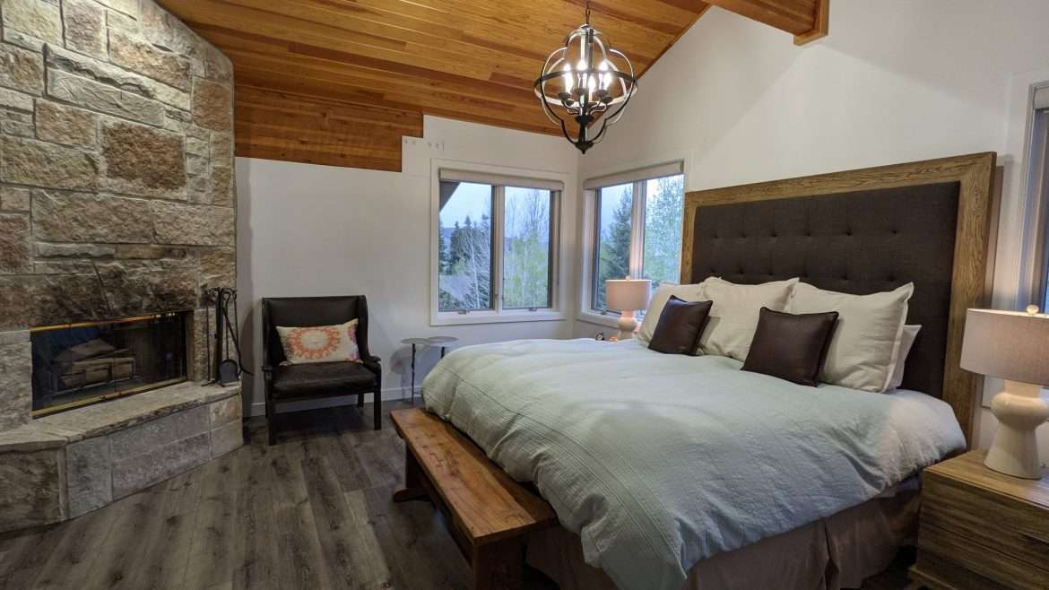 Large master bedroom in our vacation rental in Park City