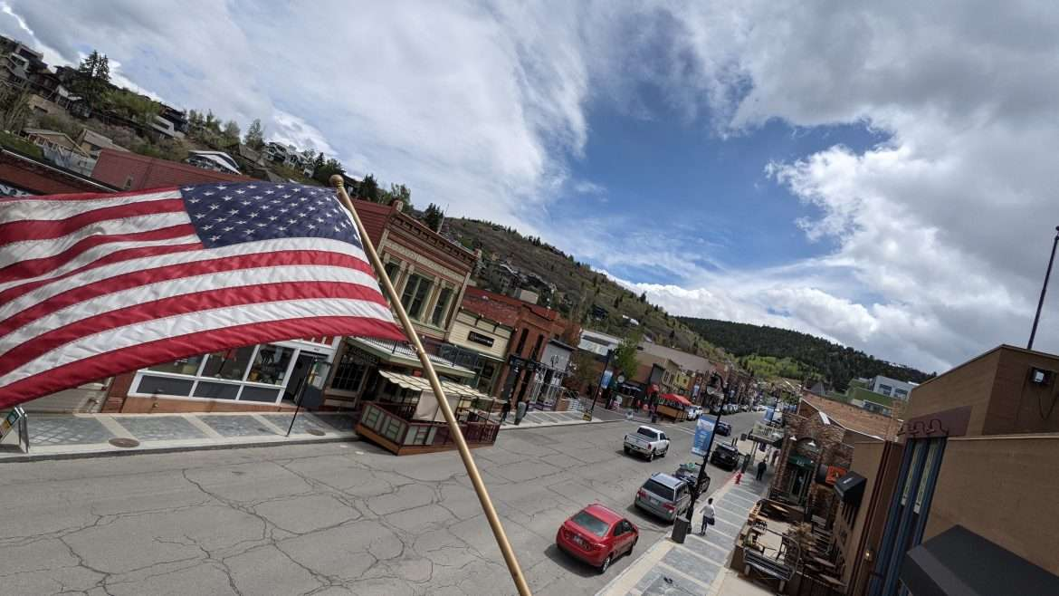 View over Main Street in Park City