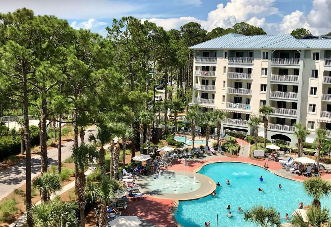 View from a villa balcony at SurfWatch, a vacation rental in Hilton Head