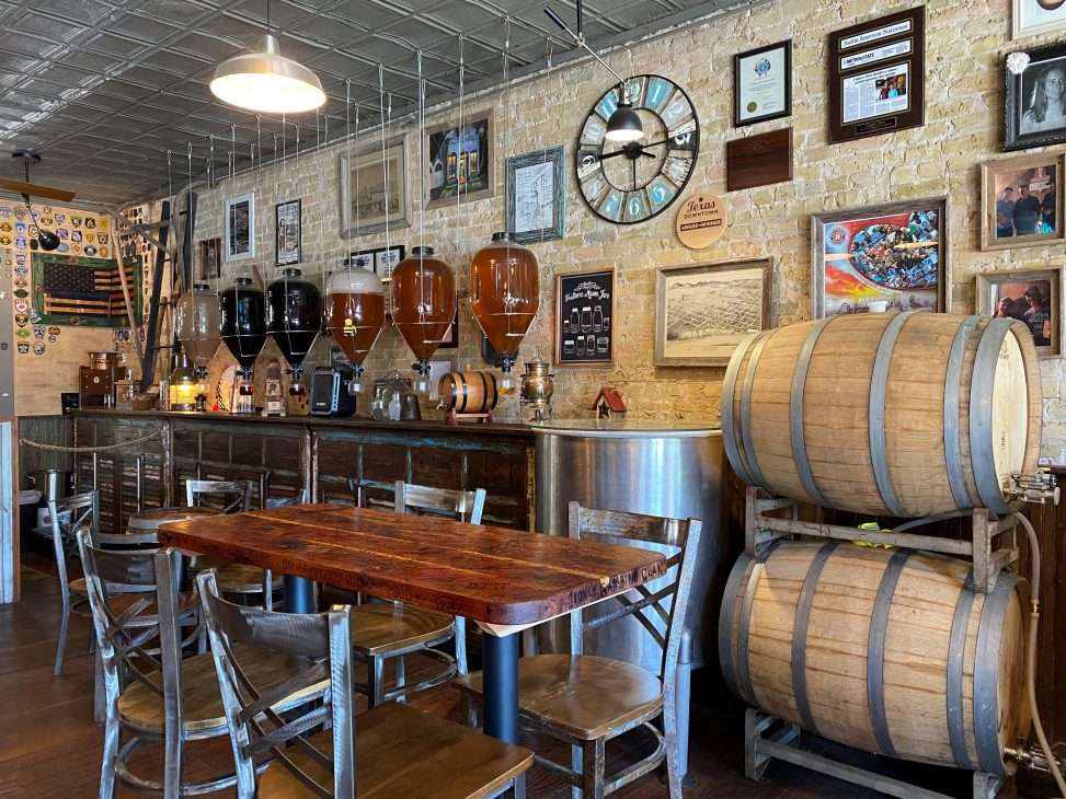 Inside of Copper Shot Distillery in Bastrop, Texas