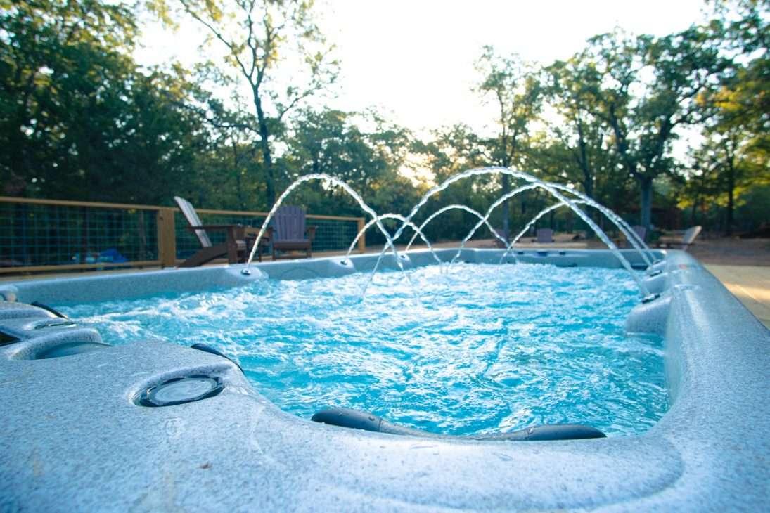 hot tub at The Reserve at Greenleaf