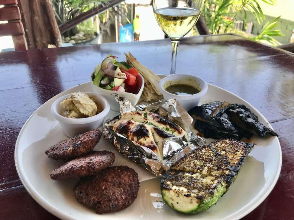 food at restaurant in Puerto Morelos