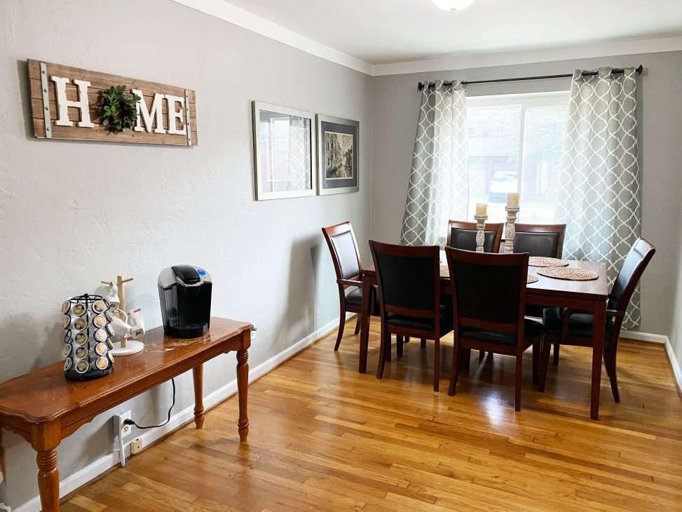 Columbus Ohio Vacation Rental dining room